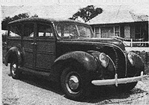 1938 Ford (woodie) station wagon